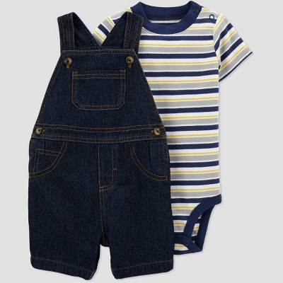 Baby Boys' Denim Striped Top & Bottom Set - Just One You® made by carter's Navy 6M