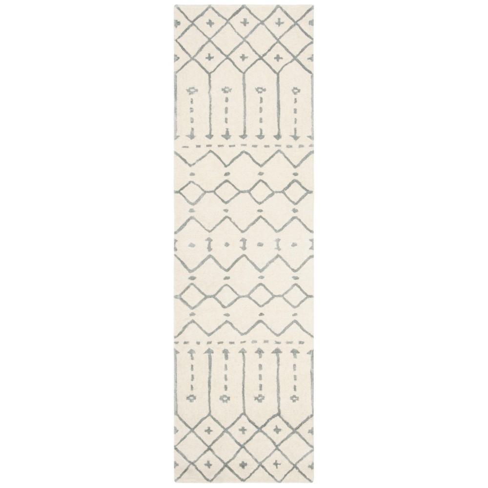 22X8 Geometric Design Tufted Runner Ivory/Gray - Safavieh Buy