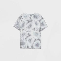 Women's Oversized Tie-Dye Lounge T-Shirt - Colsie™ Gray