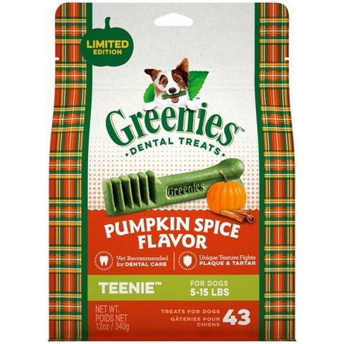 Greenies Pumpkin Spice Dental Treats Teenie - 43ct/12oz - image 1 of 4