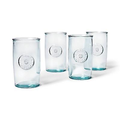 15.2oz 4pc Tall Recycled Glass Tumbler Set - Levi's® x Target