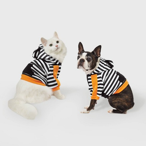 Stripe Halloween Dog and Cat Cropped Hoodie - Hyde & EEK! Boutique™ - image 1 of 1