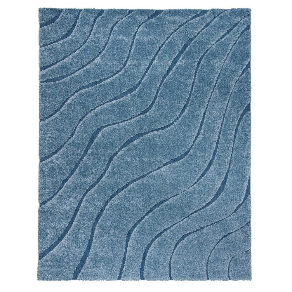 Light Blue/Blue Wave Loomed Area Rug 8'X10' - Safavieh, Light Bluenblue