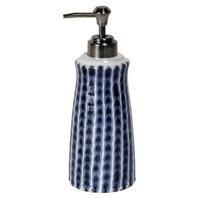 Waterfall Lotion Dispenser Blue/White - Saturday Knight Ltd.®