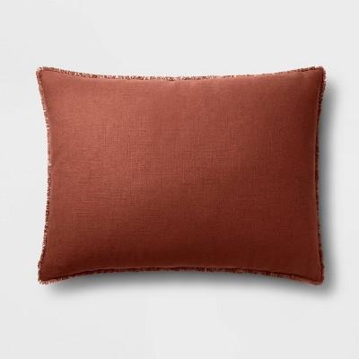 King Euro Heavyweight Linen Blend Throw Pillow Dark Clay - Casaluna™