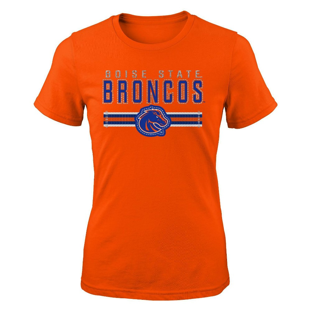 Ncaa Boise State Broncos Girls 39 Short Sleeve Crew Neck T Shirt L