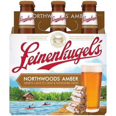 Leinenkugel Northwoods Lager Beer - 6pk/12 fl oz Cans