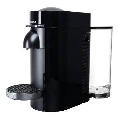 Nespresso Refurbished VertuoPlus Deluxe Espresso and Coffee maker Bundle Black