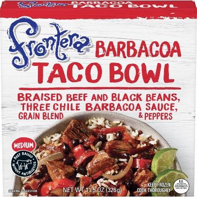 Frontera Beef Barbacoa Frozen Taco Bowl - 11.5oz
