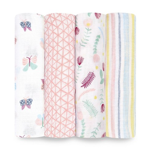 aden + anais essentials Muslin Swaddles - 4pk - image 1 of 4