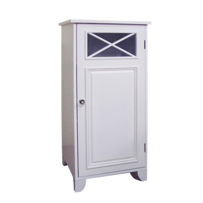 Dawson Floor Cabinet with 1 Door White - Elegant Home Fashions