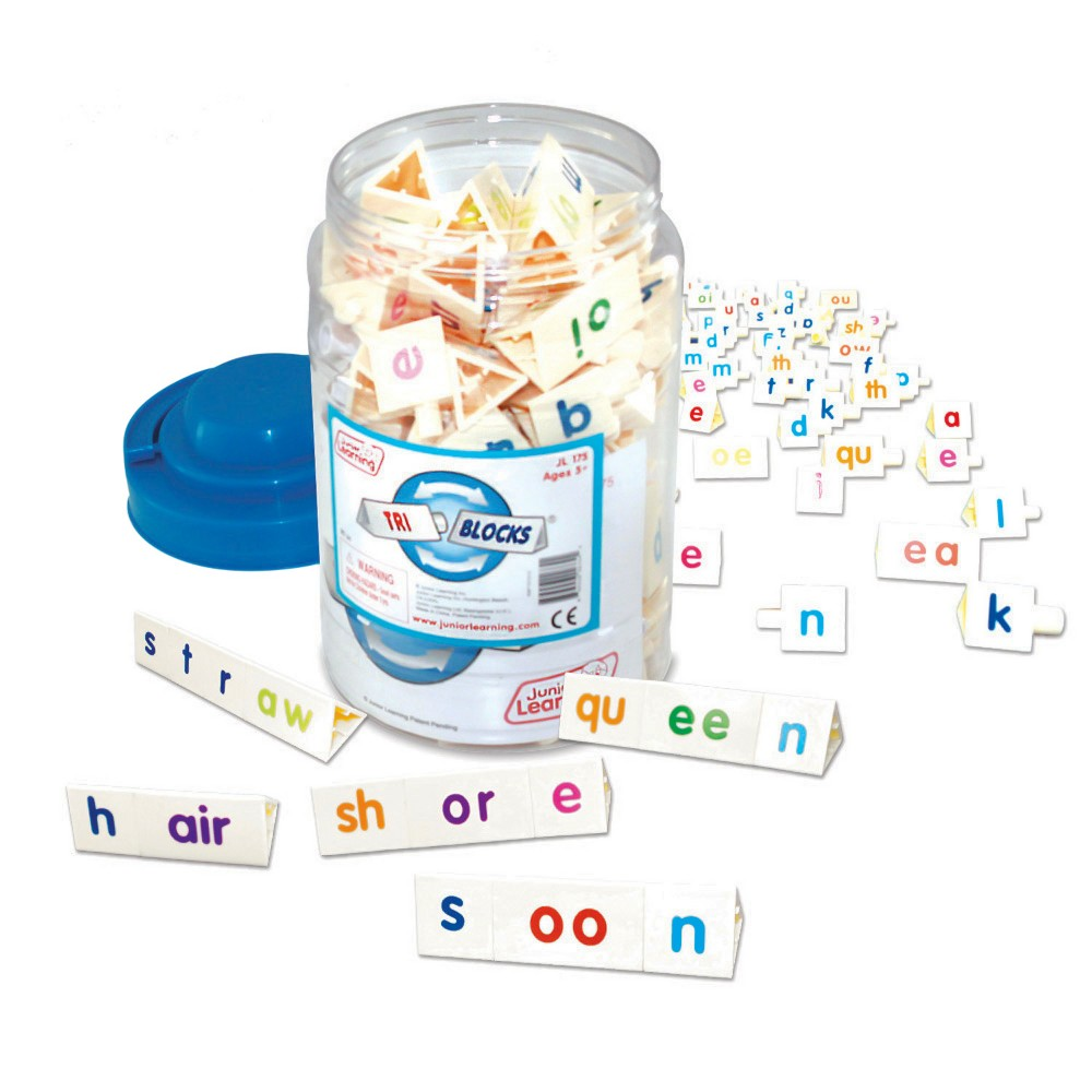 Image of Junior Learning Tri-Blocks Tub Word Building Set