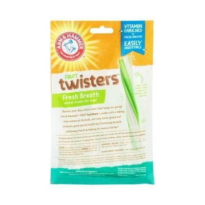 Arm & Hammer Fruit Twisters Green Apple Flavor Medium Dental Dog Treats