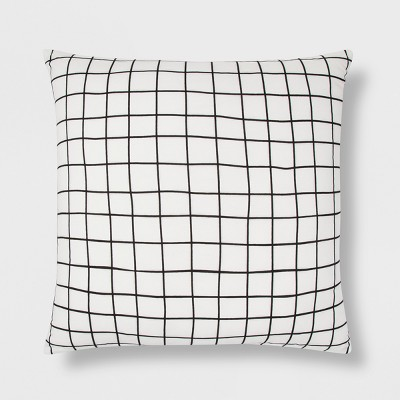 Black And White Grid Oversize Square Throw Pillow - Room Essentials™