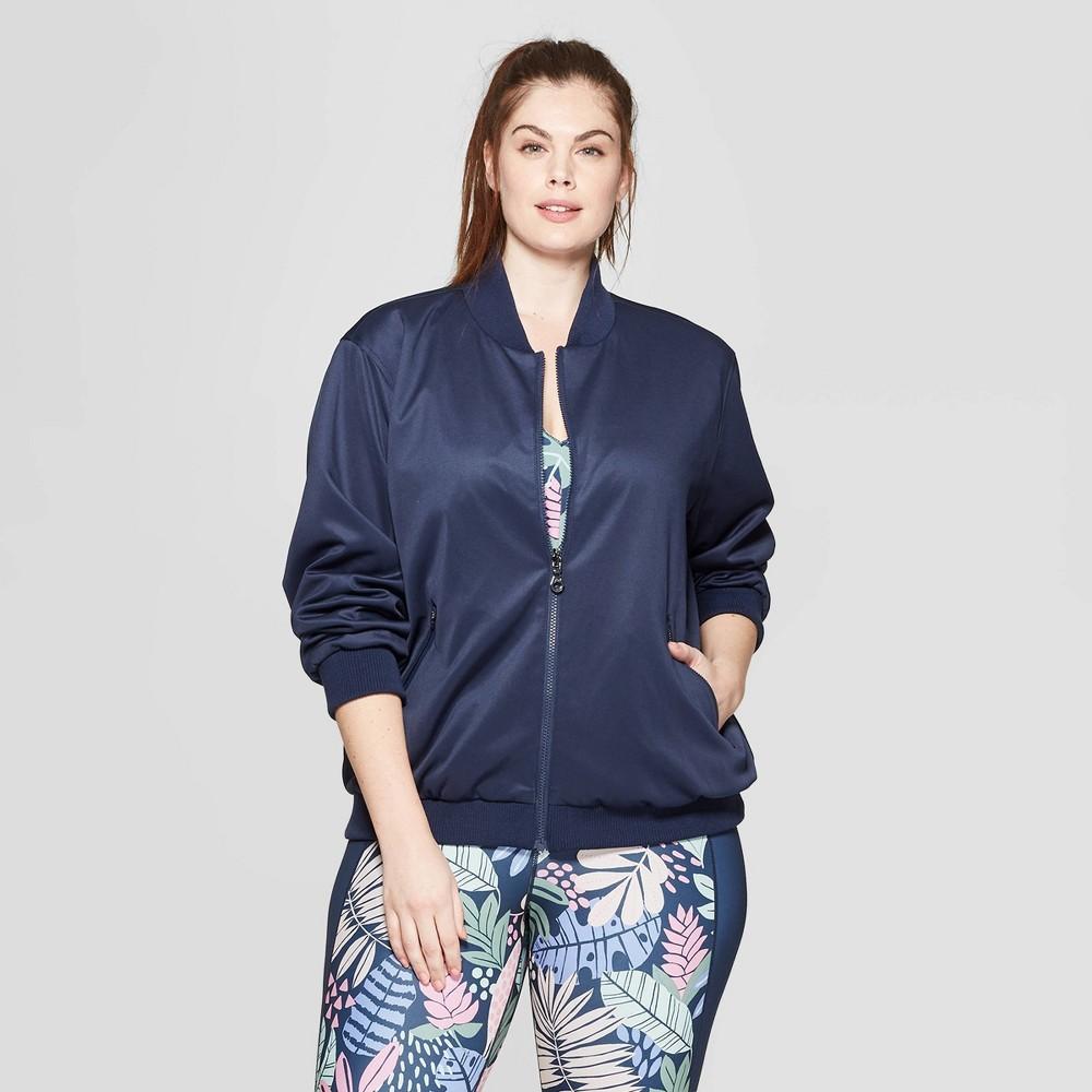 Women's Plus Size Reversible Jacket - JoyLab Navy 2X, Blue