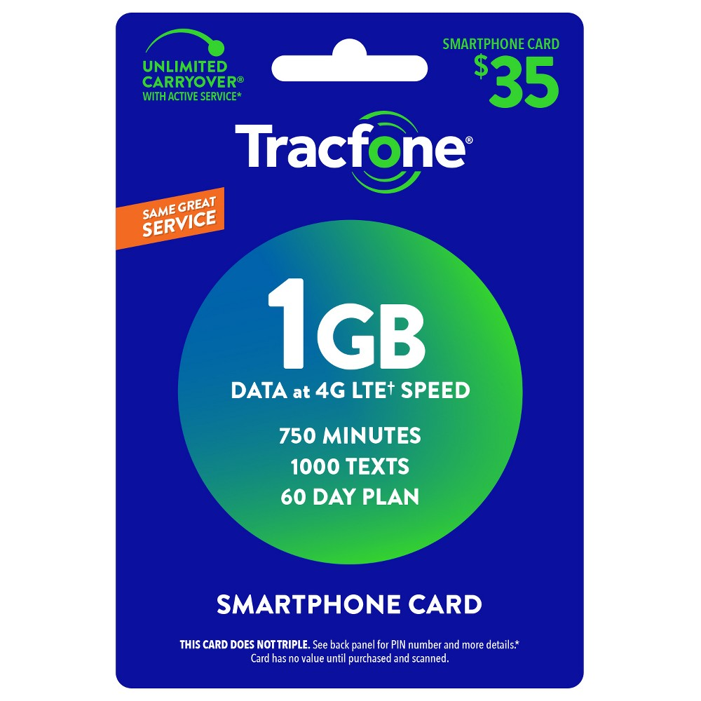 TracFone $35 Smartphone Only Prepaid Card (Email Delivery)