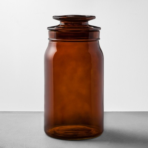 Amber Glass Bath Canister - Hearth & Hand™ with Magnolia - image 1 of 2