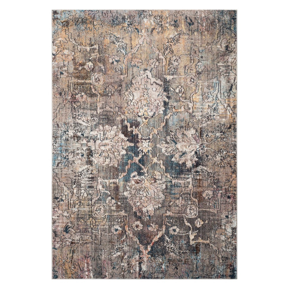 6'X9' Medallion Loomed Area Rug Blue/Gray - Safavieh