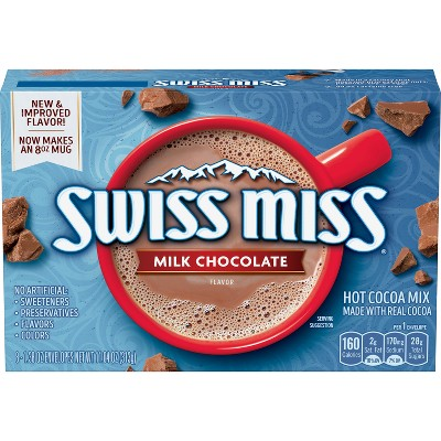Hot Cocoa: Swiss Miss Hot Cocoa Milk Chocolate Packets