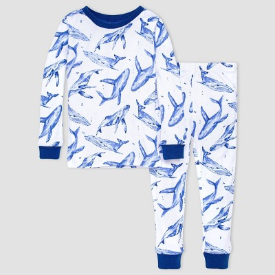 Burt's Bees Baby® Baby Boys' 2pc Whales Snug Fit Pajama Set - Blue
