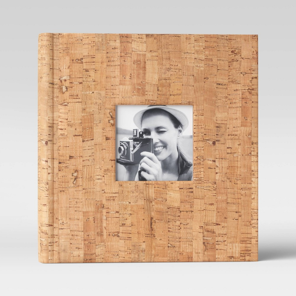 "Image of ""4"""" x 6"""" Cork Photo Album 2 per page - Threshold"""