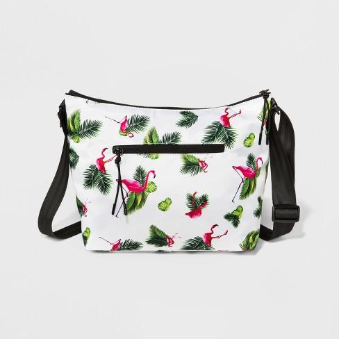 4494774068 BORSANI Nylon Messenger Bag - White   Target