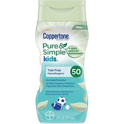 Sunscreen & Tanning: Coppertone Pure & Simple Kids