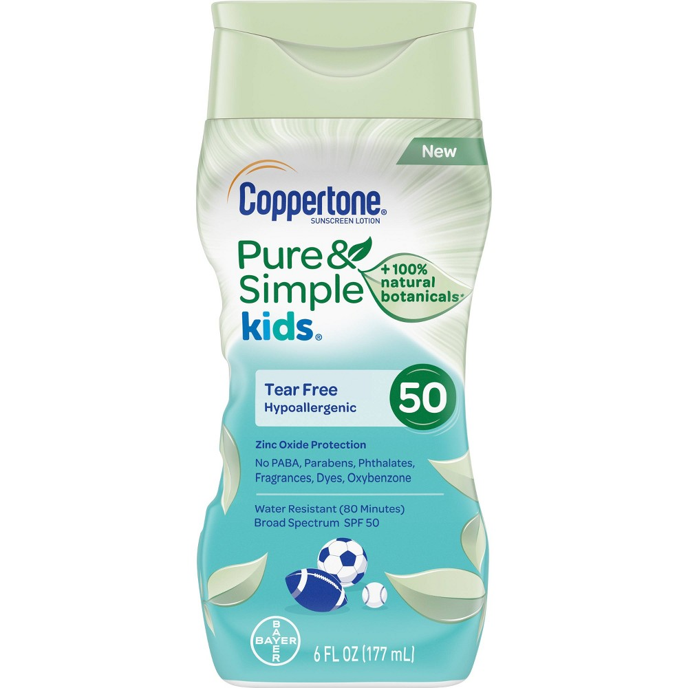 Image of Coppertone Kids Pure and Simple Botanicals Sunscreen Lotion- SPF 50 - 6oz