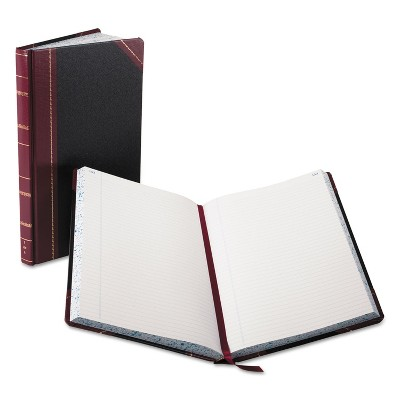 Boorum & Pease Record/Account Book Black/Red Cover 300 Pages 14 1/8 x 8 5/8 9300R