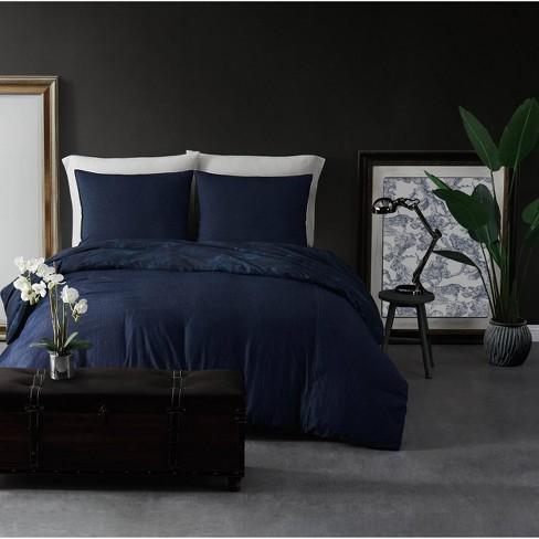 Full/Queen 3pc 100% Cotton Comforter Set Denim - Sean John - image 1 of 4