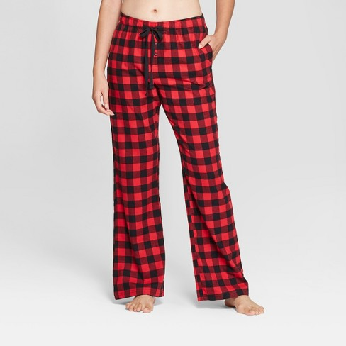 Women s Plaid Flannel Pajama Pants - Gilligan   O Malley™ Red XL ... c966a1229