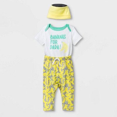 Baby Banana Top & Bottom Set - Cat & Jack™ White 6-9M