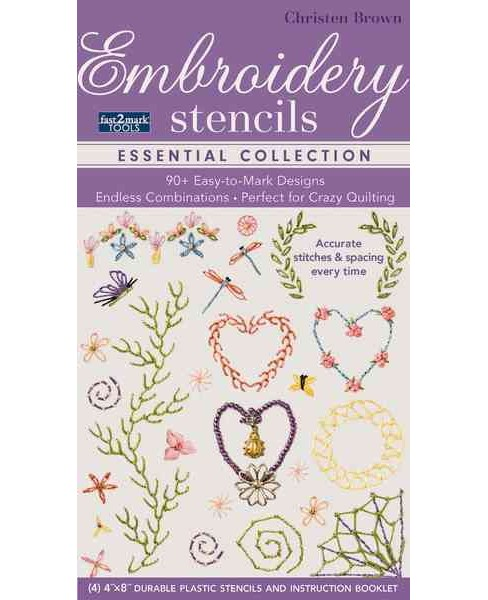 Fast2mark Tools Embroidery Stencils - Essential Collection : 90+ Easy-to-Mark Designs - Endless - image 1 of 1