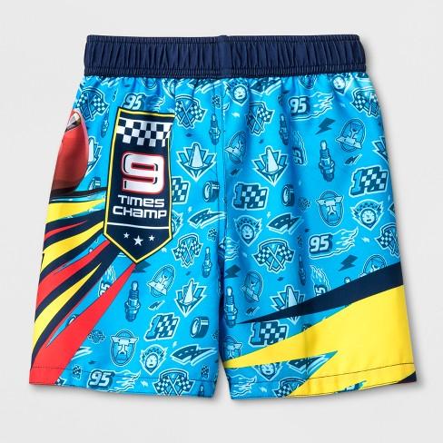 49cdfd57d9 Toddler Boys' Disney Cars 3 Swim Trunks - Blue 4T : Target