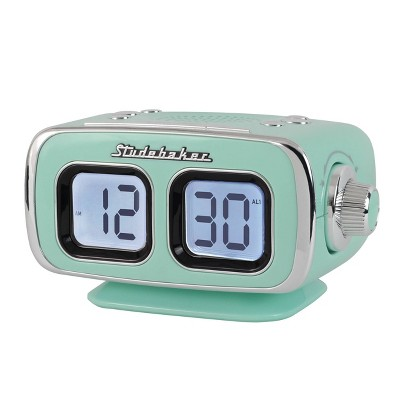Studebaker Retro Digital Bluetooth AM/FM Clock Radio (SB3500TE) - Teal