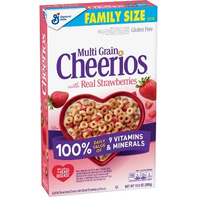 Cheerios Strawberry Cereal Family Size - 13.5oz - General Mills