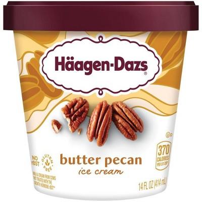 Haagen Dazs Butter Pecan Ice Cream - 14oz