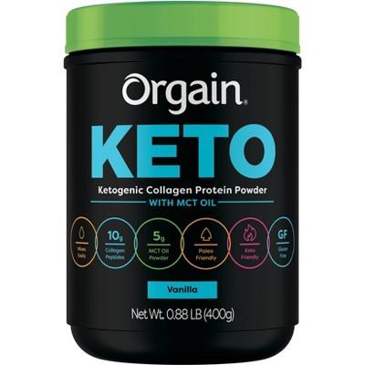 Orgain Keto Collagen Powder - Vanilla - 14.08oz
