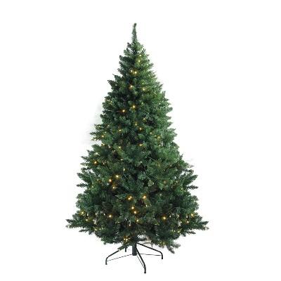 Northlight 7.5' Prelit Artificial Christmas Tree LED Medium Buffalo Fir - Warm White Lights