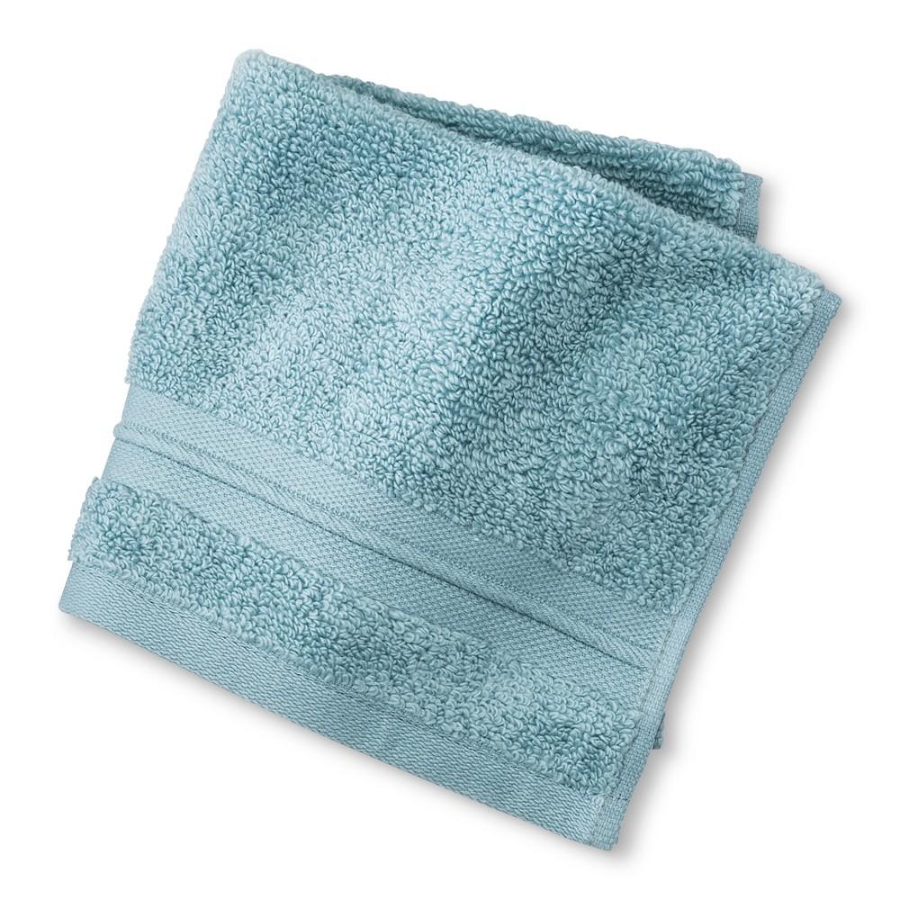 Spa Solid Washcloth Aqua (Blue) - Fieldcrest