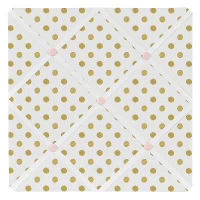 Gold & White Polka Dot Amelia Photo Memo Board (13 x13 )- Sweet Jojo Designs