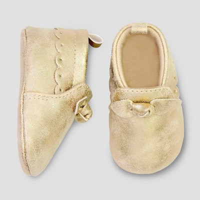Baby Girls' Moccasin Crib Shoes - Just One You® made by carter's Gold 0-3M