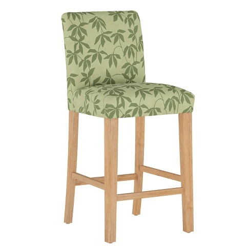 Bar Stool Lyanna Floral Sage Tonal - Cloth & Company - image 1 of 4