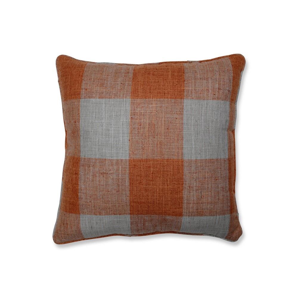 18 34 X18 34 Check Please Square Throw Pillow Orange Pillow Perfect