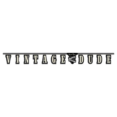 Vintage Dude Party Banner