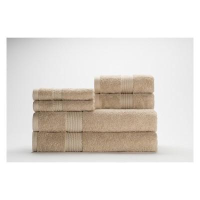 6pc Cromwell Beige Bath Towels Sets - Caro Home