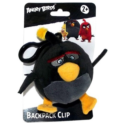 """License 2 Play Inc Angry Birds Movie 4.5"""" Plush Clip On: Bomb"""