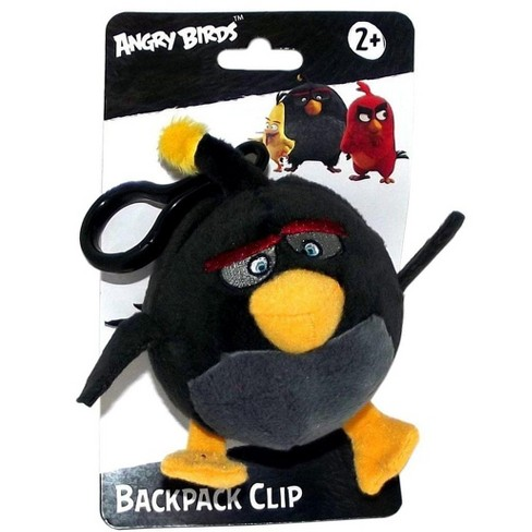 """License 2 Play Inc Angry Birds Movie 4.5"""" Plush Clip On: Bomb - image 1 of 1"""