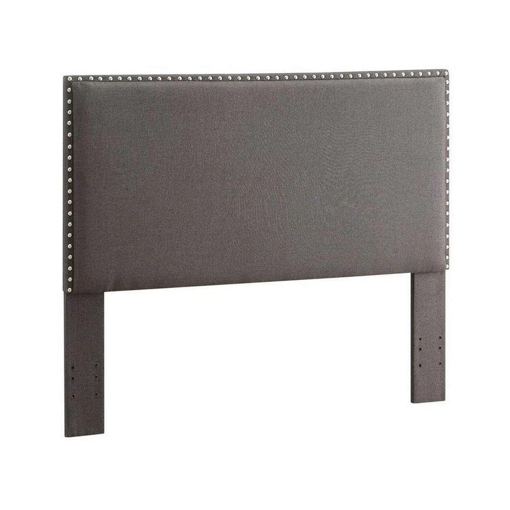 Contempo Headboard Full/Queen Charcoal Gray - Linon