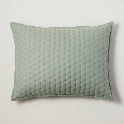 King Cashmere Blend Quilted Pillow Sage Green - Casaluna™